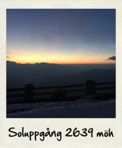 Bild: soluppgång 2639 möh