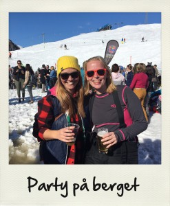 Bild: party på berget