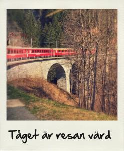 Bild: tåget är resan värd